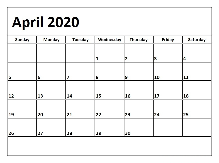 April 2020 Printable Calendar – Free Download Monthly | 12 Free 12 Month Calendar Template For Expiry Dates