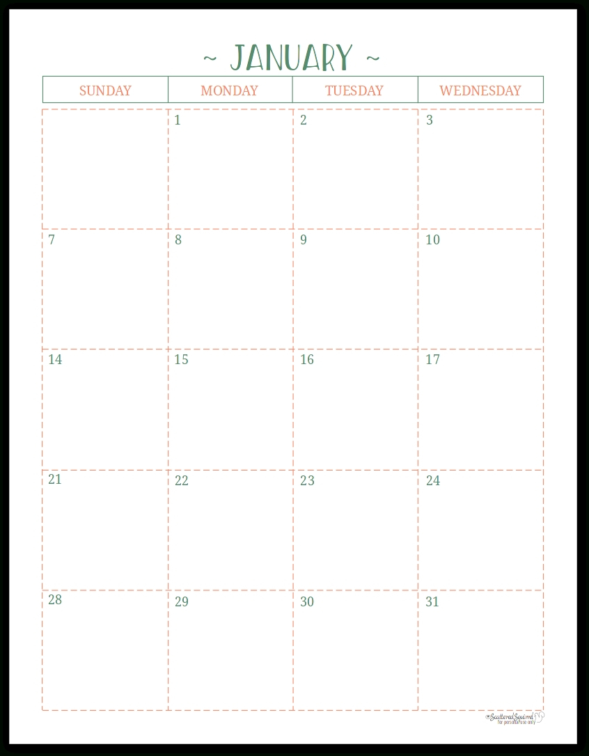 At A Glance Lined Monthly Calendar Printable | Calendar Lined Monthly Calendar Free