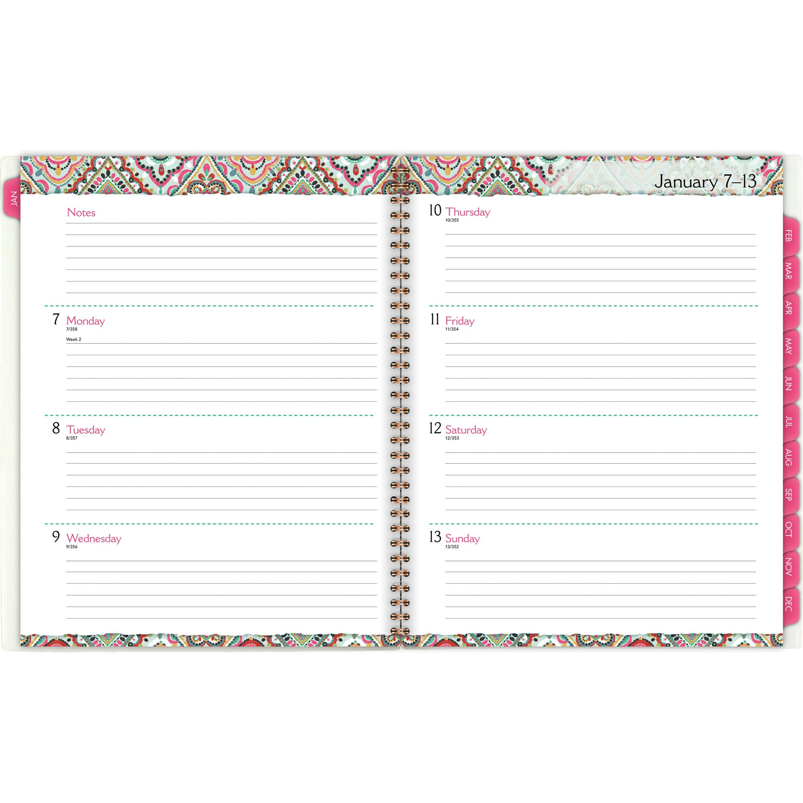 At-A-Glance Marrakesh Weekly Monthly Planner - Yes 8 1/2 11 Dayplanner Calendar