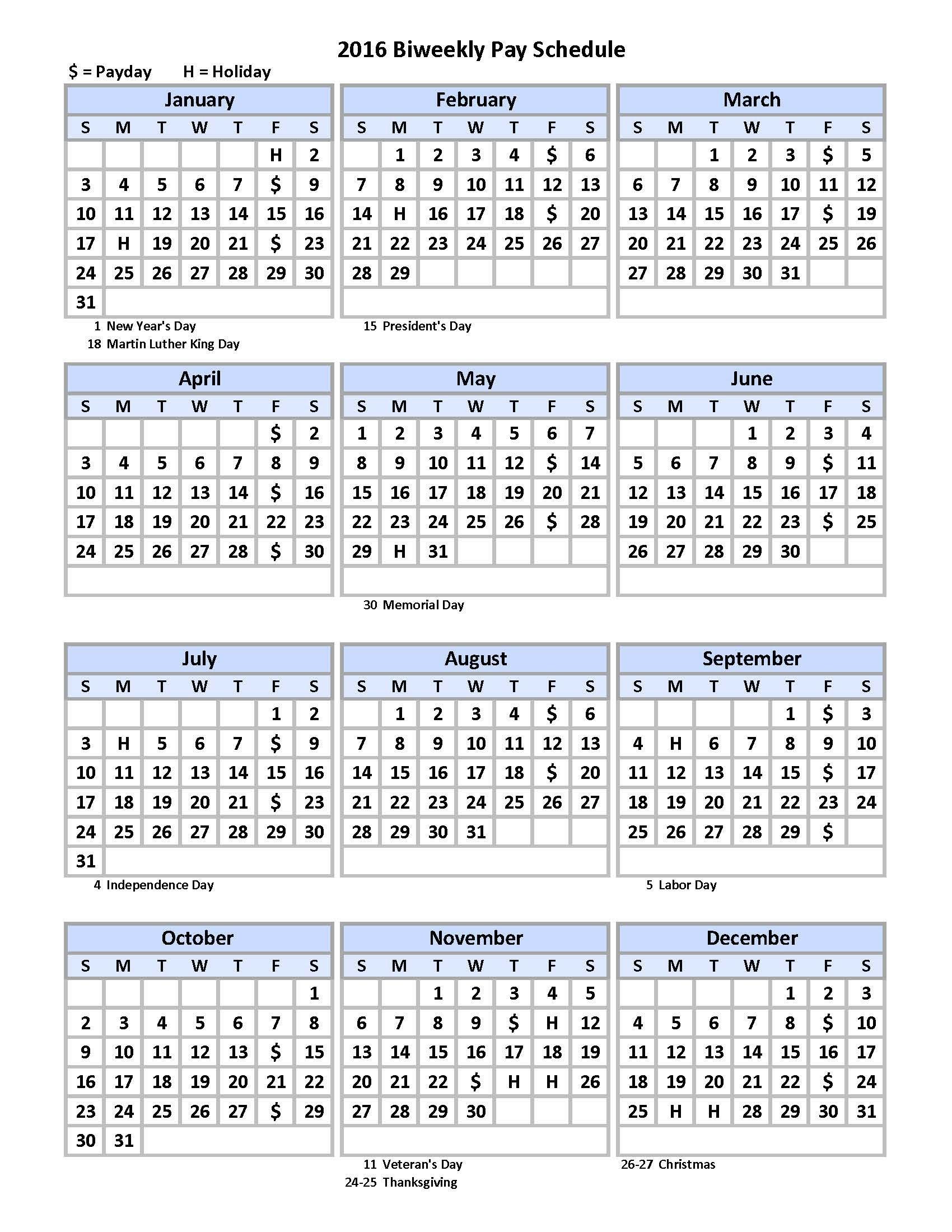 Biweekly Payroll Schedule Calendar Template - Pdf Format Example Of Editable Payroll Calendar