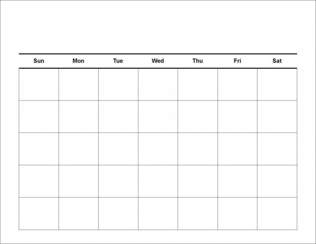 Blank 7 Day – Calendar Template 2020 7 Day Calendar Printable