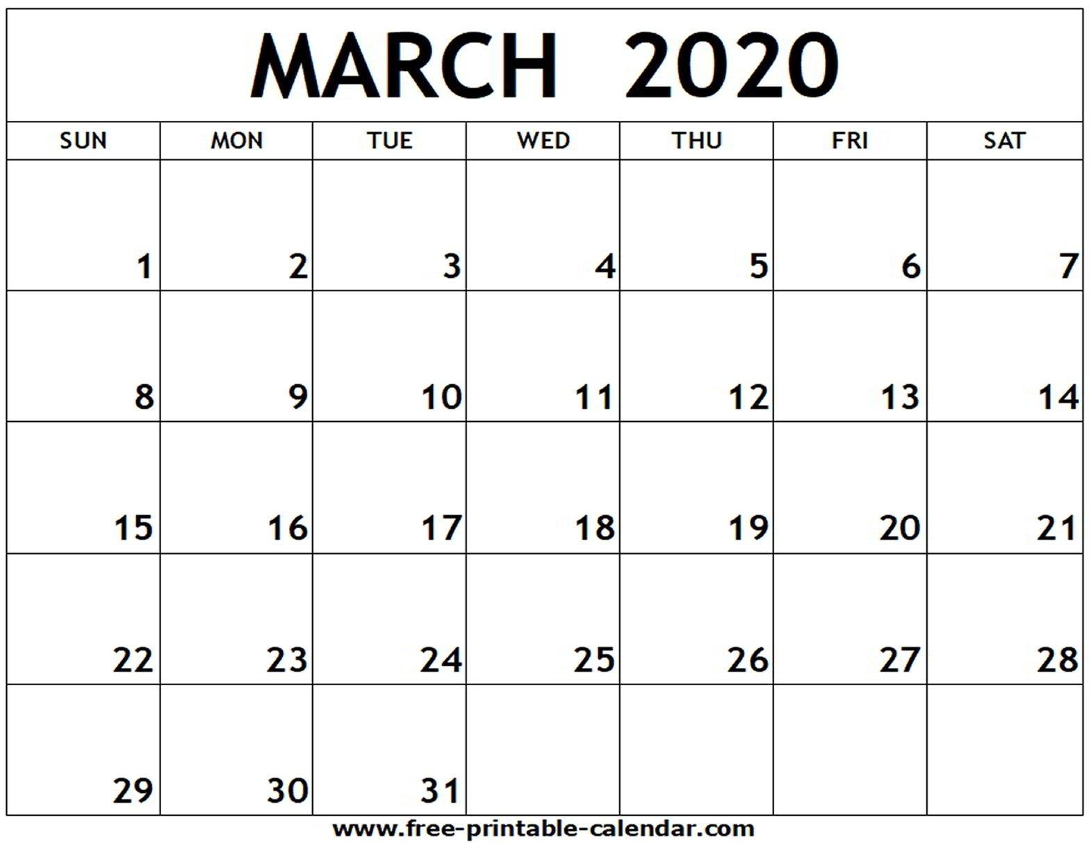 Blank Calander 2020 Fill In - Calendar Inspiration Design Free Printable Fill In Calendars