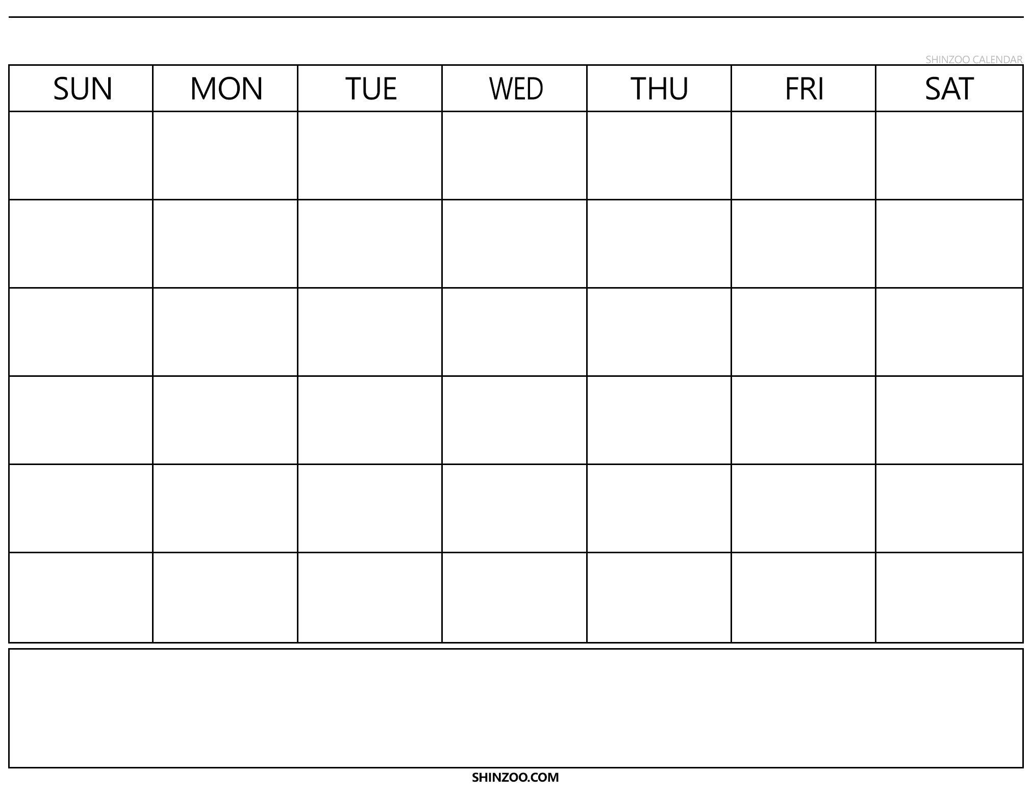 Blank Calendar 2019 2020 To Fill In - Calendar Inspiration Calendar Fill In Template