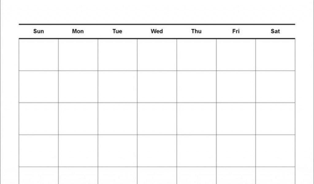 Blank Calendar 4 Weeks | Working Calendar Blank 4 Week Calendar