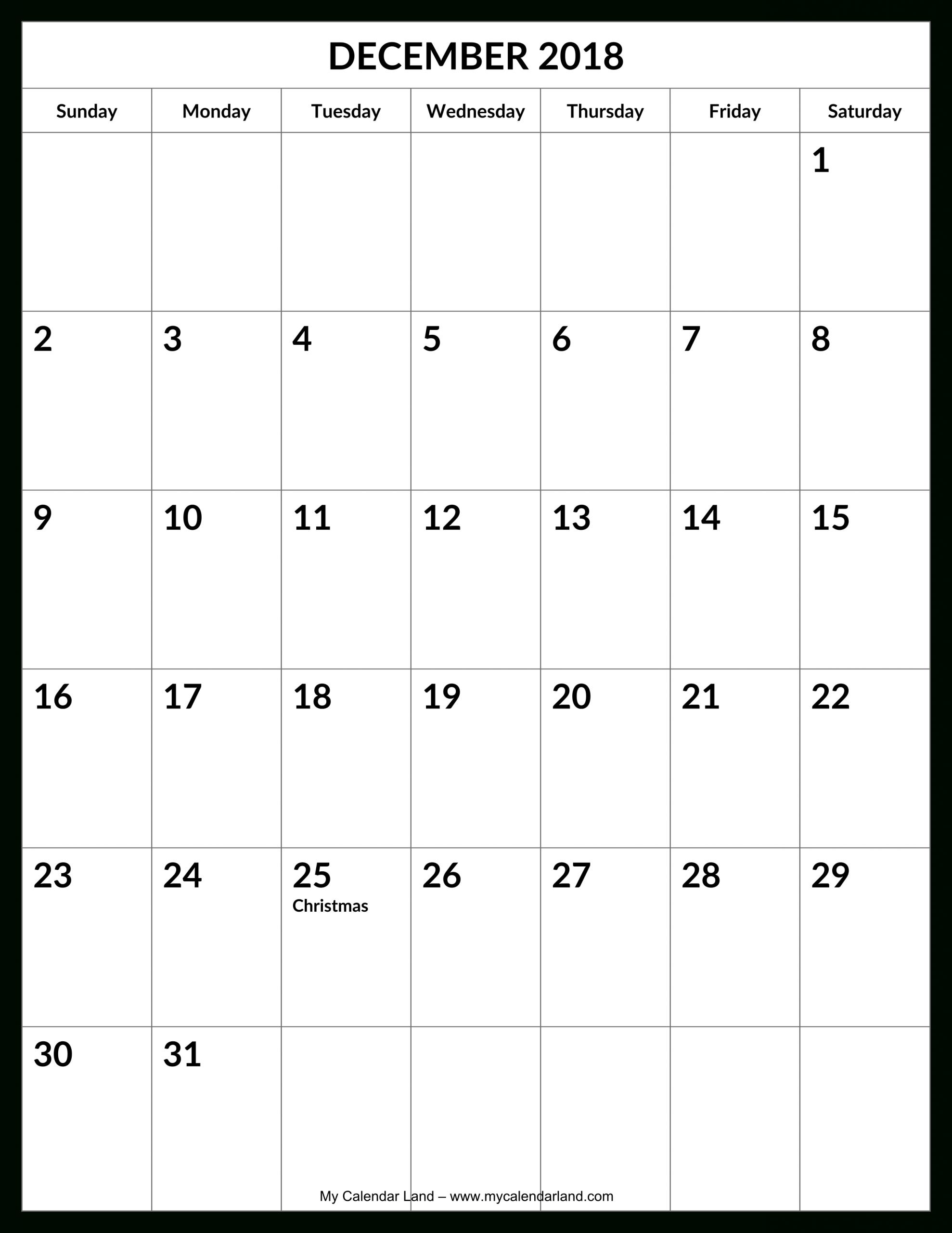 Blank Calender 31 Days   Calendar Template Printable 31 Day Calendar Template