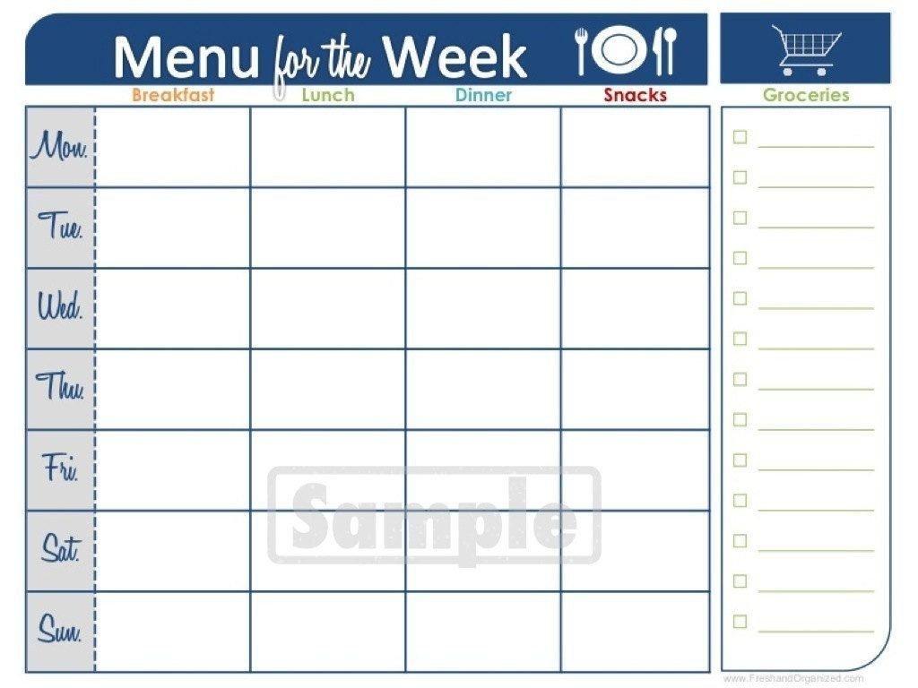 Blank Calender Two Weeks   Calendar Template Printable Two Week Food Calendar