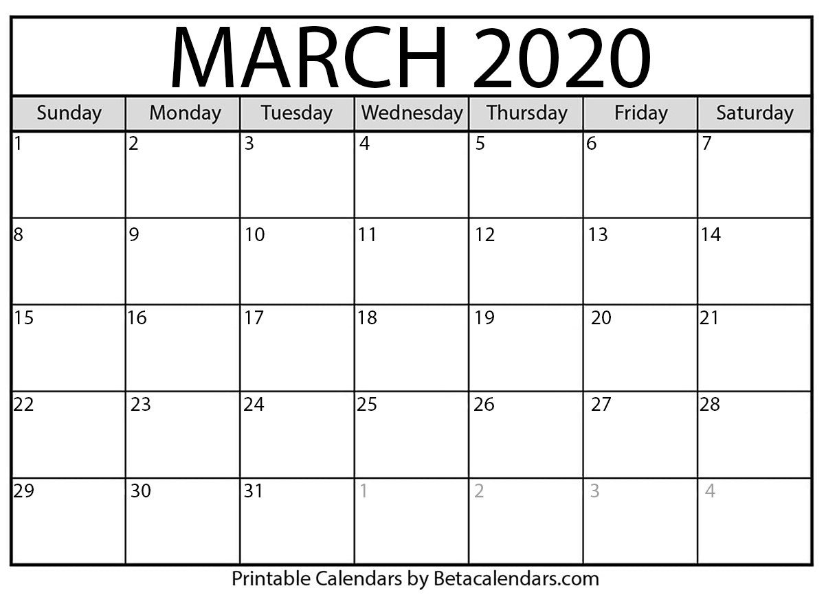 Blank Fill In Calendars 2020 Printable | Calendar Template Printale Calendar Fill In