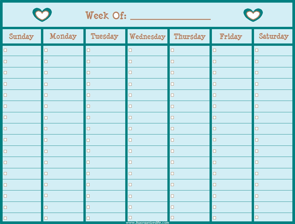 Blank Lined Weekly Calendars :-Free Calendar Template Military Short Timer Calendar Pdf