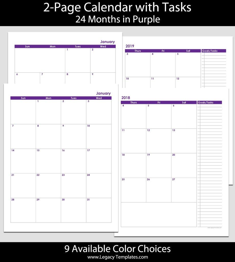 Blank Monthly Calendar Printable 8.5 X 11   Example Free Printable Calendars 5 1/2 X 8 1/2