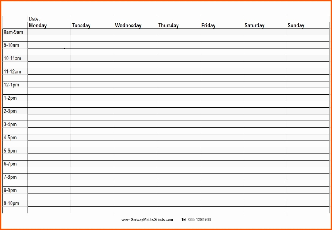 Blank Time And Date Calendar - Calendar Inspiration Design Monthly March Schedule With Time Slots
