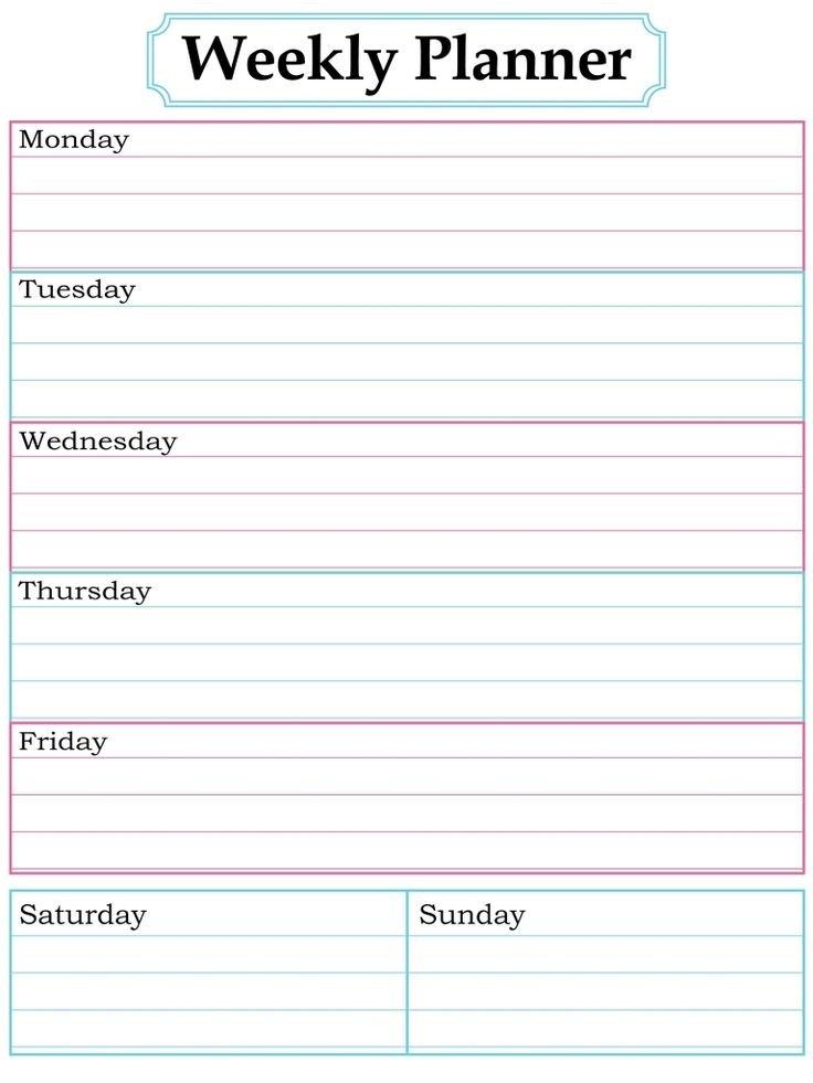 Blank Week Calendar Clipart 20 Free Cliparts | Download One Week Schedule Print