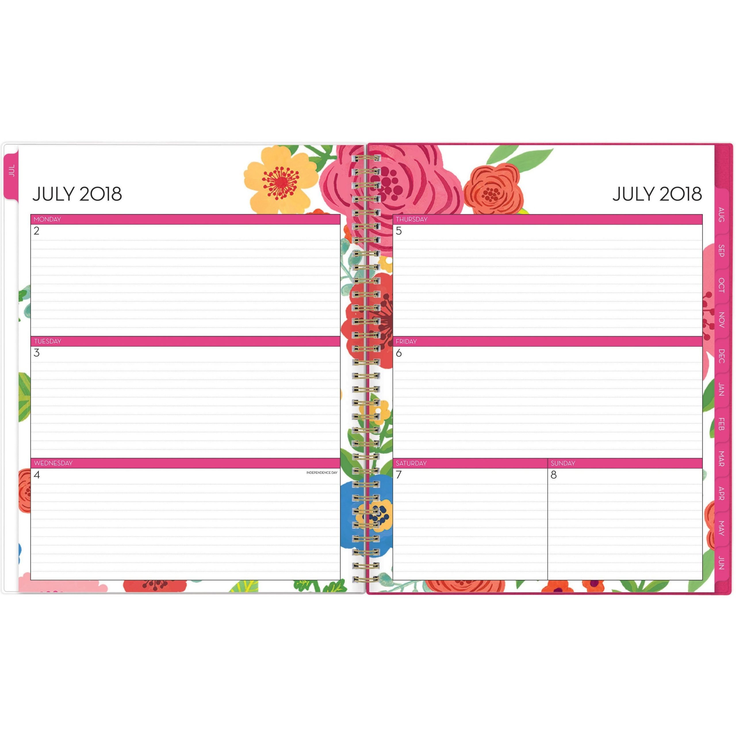 Blue Sky Mahalo Cyo 8.5 X 11 Weekly/Monthly Planneryes 8 1/2 11 Dayplanner Calendar