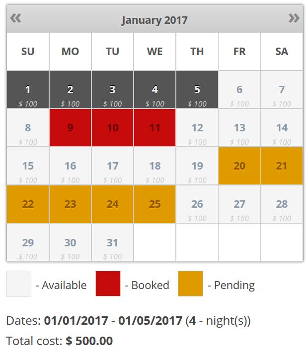 Booking Calendar WordPress Plugin Receive Bookings Easily Booking And Reservation Calendar Excel Template