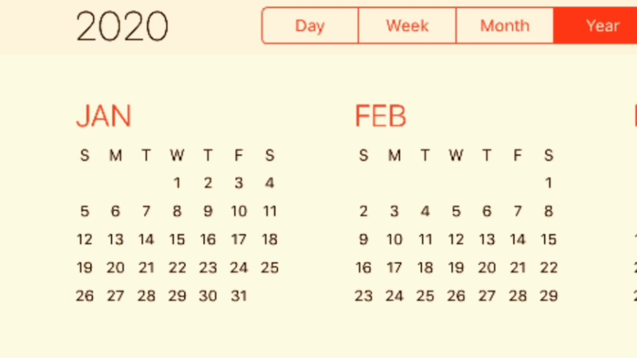 Calendar 2020 - Youtube Free 2020 Calendar With Days Counted 1-365
