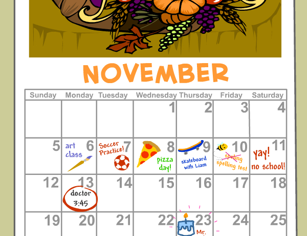 Calendar And Dates Lesson Plans And Lesson Ideas How To Make A Color Coded Calendar Parenting Time