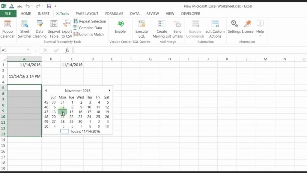 Calendar Drop Down In Excel | Calendar Image 2020 Excel Add Calendar Drop Down Into A Template