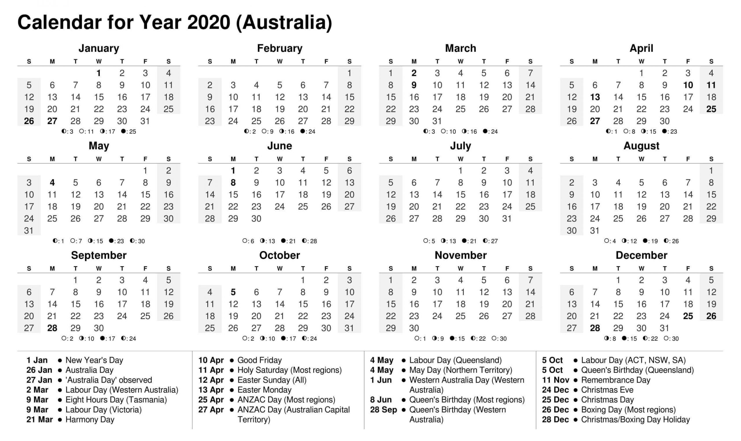 Calendar Year 2020 Holidays Template - 2019 Calendars For Holiday Time Off Calendar Excel