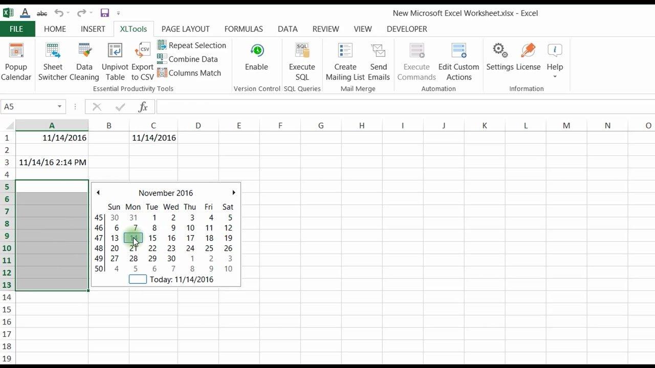 Calendar Year Excel Formula | Calendar Printables Free Insert Calendar In Excel