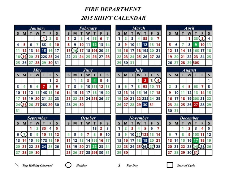 Canton Firefighters Local 2289 Firefighter Shift Schedule Tool