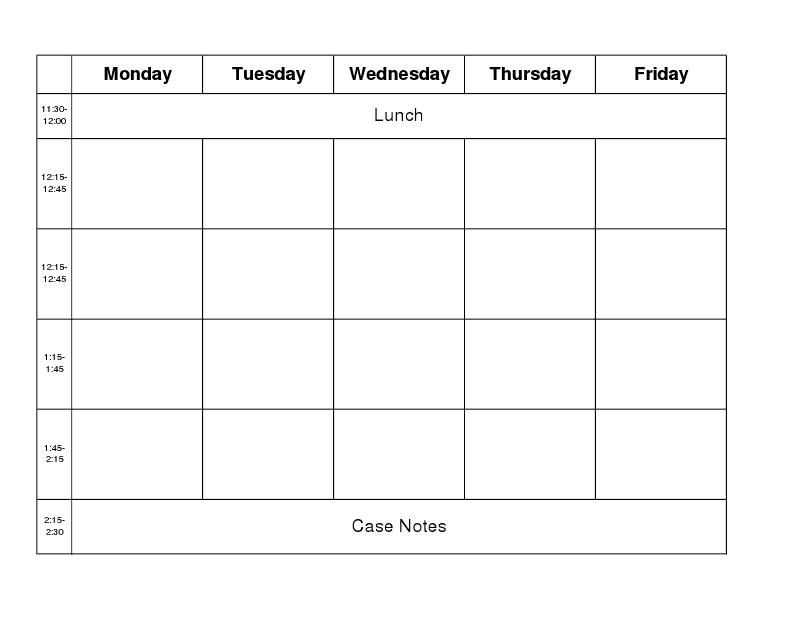 Carrie'S Speech Corner: Back To School Week: Getting 8 Week Calendar Doc