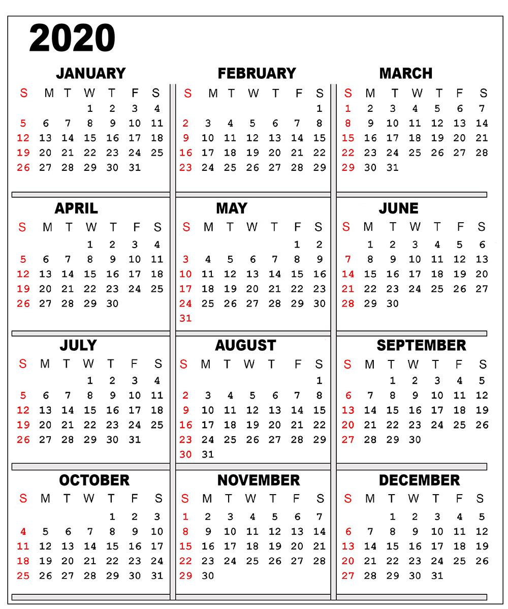 Catch 2020 Free Calendars You Can Edit | Calendar Free Calendar You Can Edit