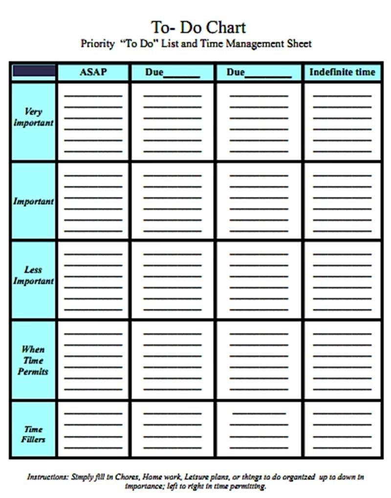 Charts | Time Management, Time Management Worksheet Time Management Calendar Free
