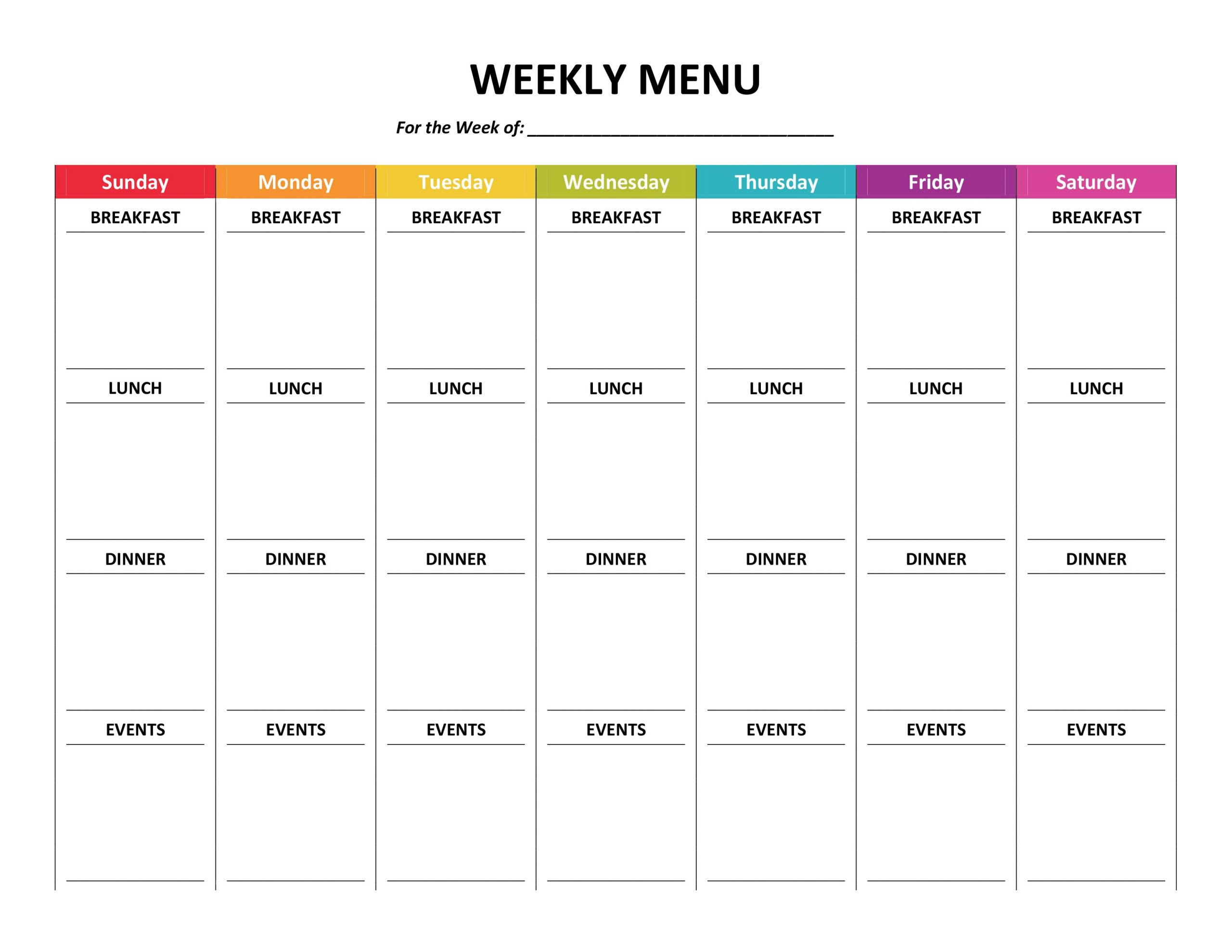 Cleaning & Organization – Gone Like Rainbows Free Fill In Weekly Schedule