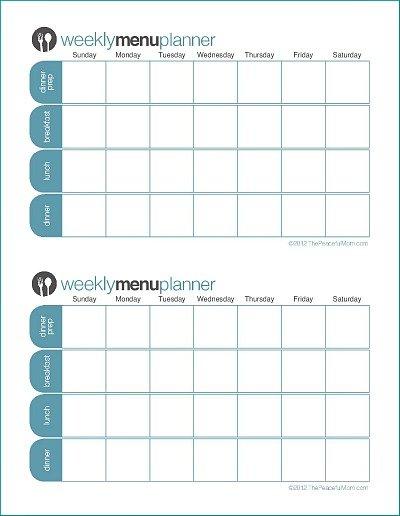 Click To Print: Tpm Customizable Two Week Menu Planner 2 Weeks Calendar Printable