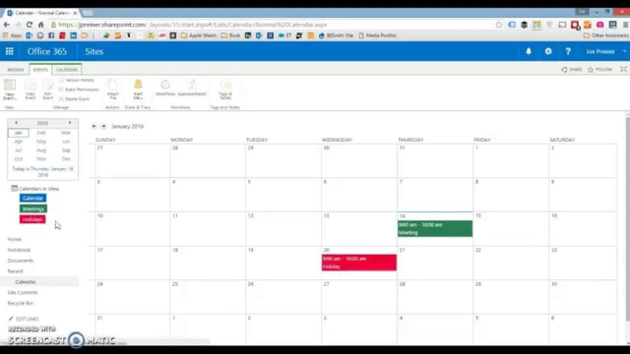 Color-Coding Sharepoint 2010, 2013 Or Sharepoint Online Free Color Coded Calendars