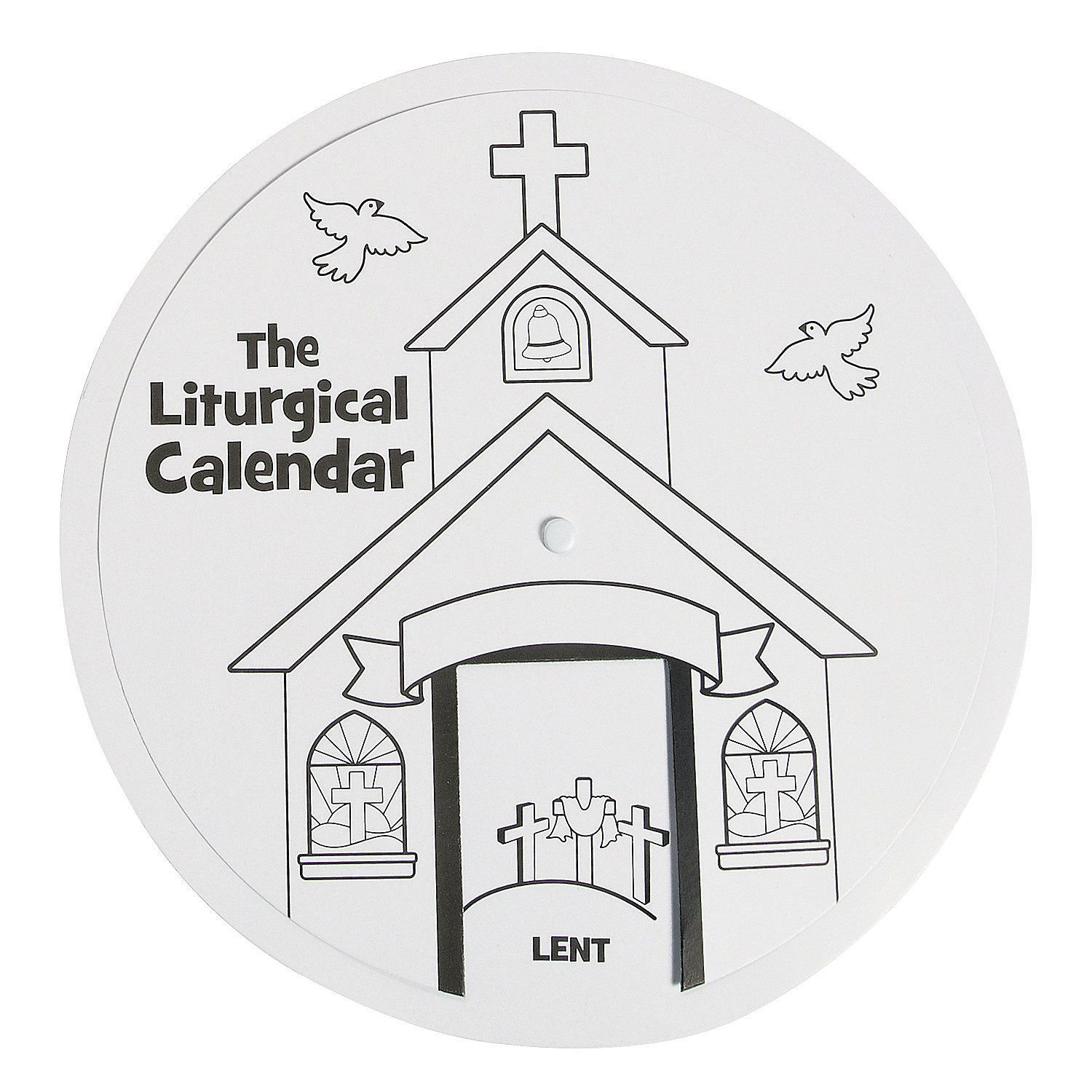 Color Your Own Liturgical Calendar Learning Wheel ($6.50 Free Church Calender Images