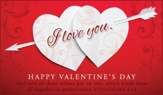 Colossians 3:14 Niv Ecard - Free Valentine'S Day Cards Online Cross Cards Lune Calebders