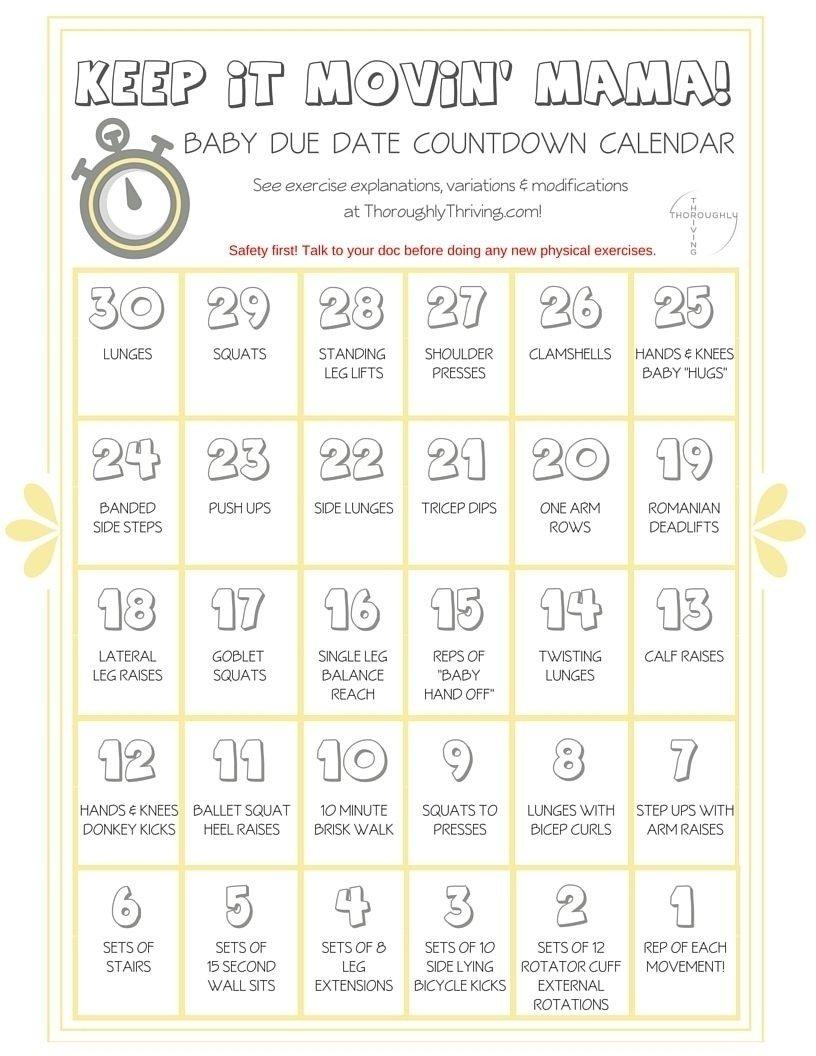 Countdown Calendar For Pregnancy | Free Calendar Template Pregnancy Countdown Calendar Printable Free