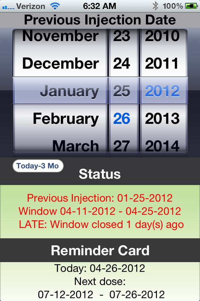 D-Calc - App Store Depo Calendar Given Today