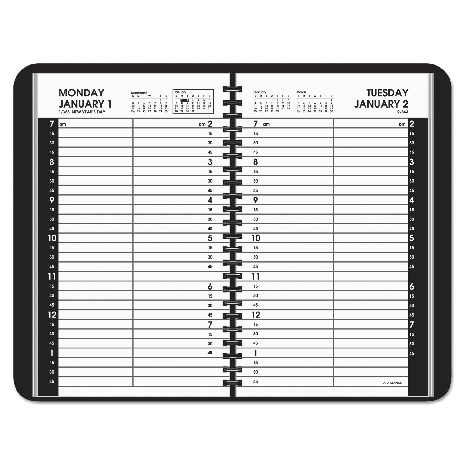 Daily Appointment Book With 15-Minute Appointmentsat-A 5 1/2 X 8 1/2 Page Daily Calendar Template Editable