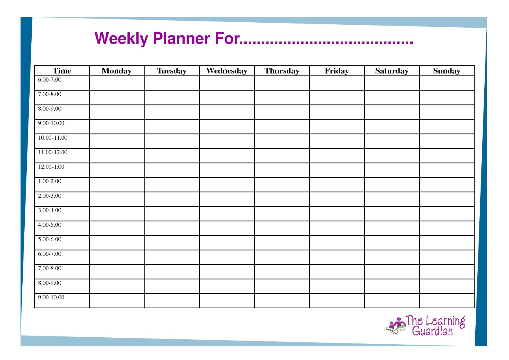 Daily Hourly Calendar Template Free   Daily Calendar Printable Hourly Schedule Free