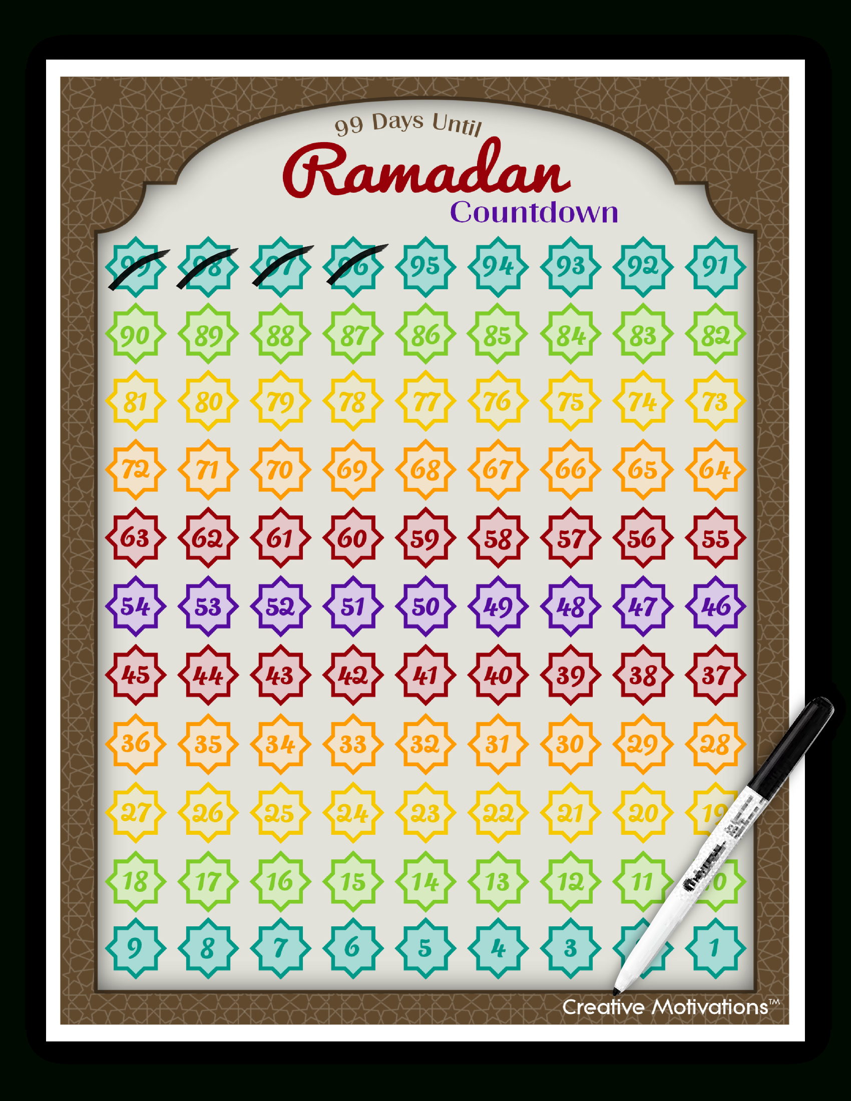 Day 21: Al-Wahhaab – The Giver Of Gifts, The Bestower Ramadan Countdown Free Printable