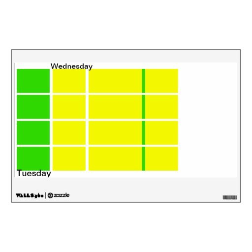 Days Of The Week Color Coded Calendar Visual Tools Room Free Color Coded Calendars