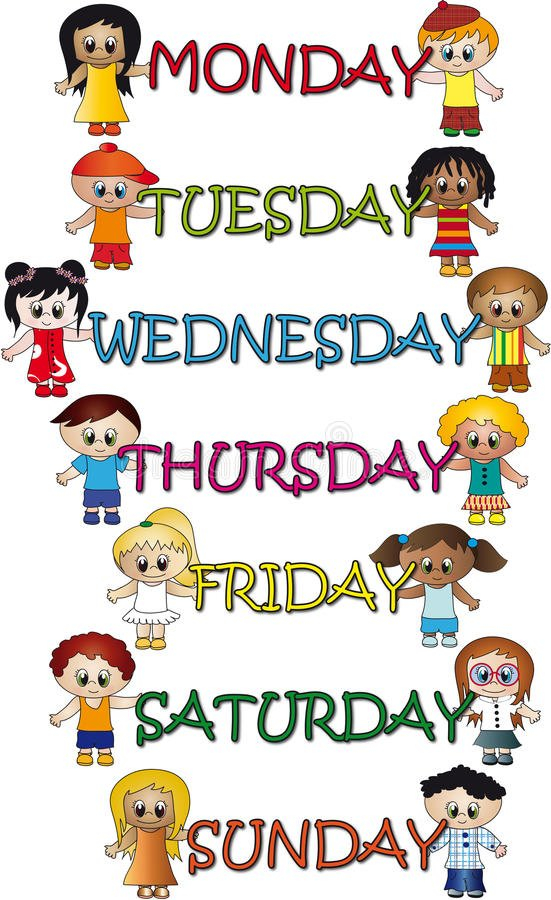 Days Of The Week Stock Illustration. Illustration Of Monday To Friday 9 5 Template
