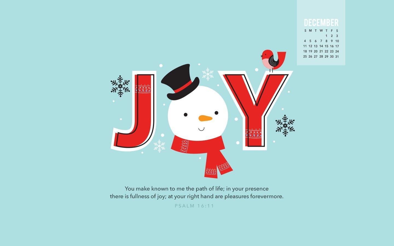 December 2016 - Joy Desktop Calendar- Free December Wallpaper Cross Cards Lune Calebders