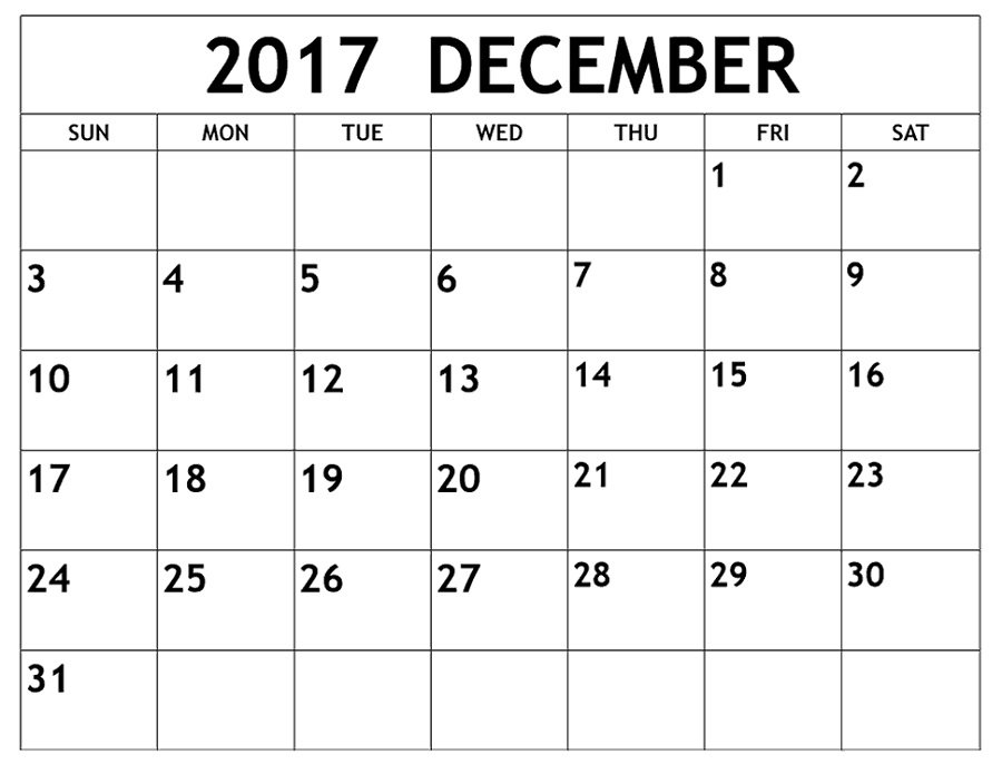 December 2017 Calendars Printable | Activity Shelter Free 2016 Calendar With Room For Taking Notes