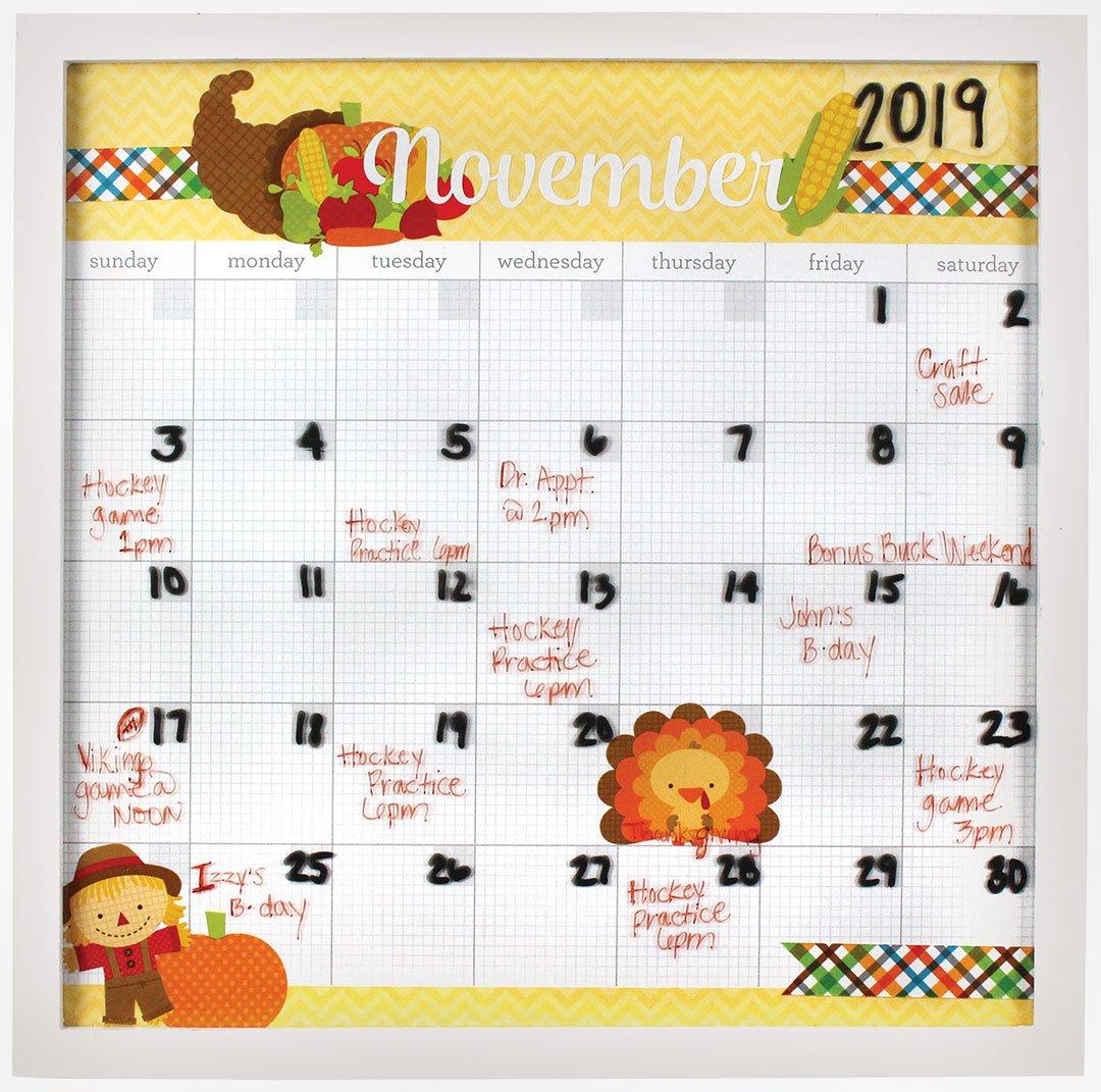 Doodlebug Calendar Frame | Crafts Direct Wooden 3 Month Calendar Frame