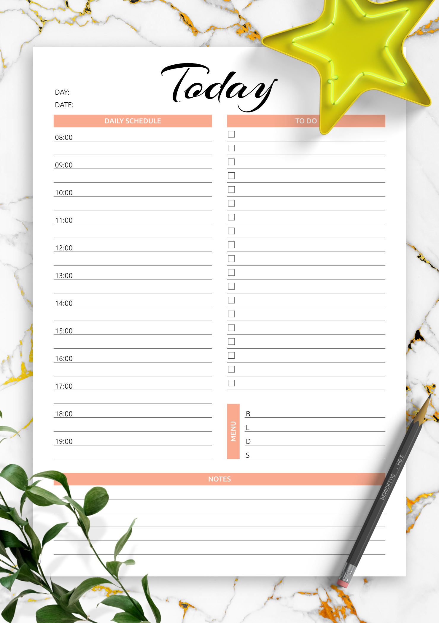 Download Printable Today Hourly Planner Pdf Daily Calendar By Hour Free