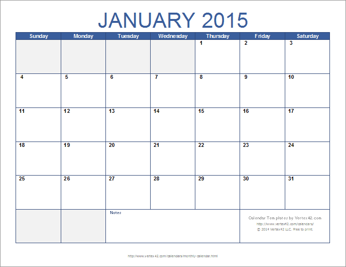 Download The 12-Month Calendar Template From Vertex42 Monthly Calendars You Can Edit