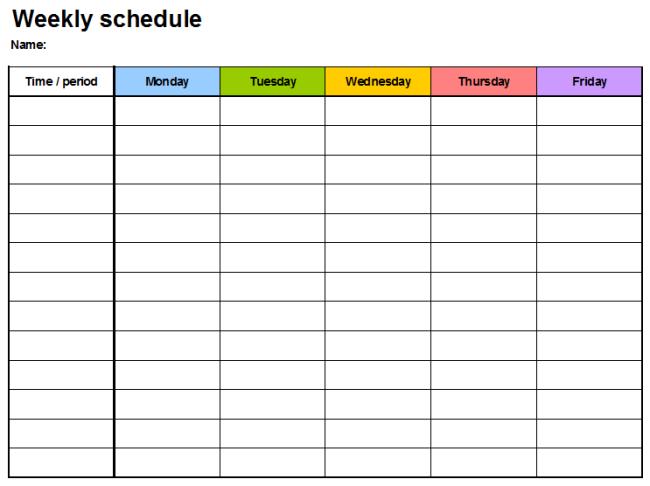 Download Weekly Planner Template Excel Two In Excel Format Free Two Week Planning Calendaar
