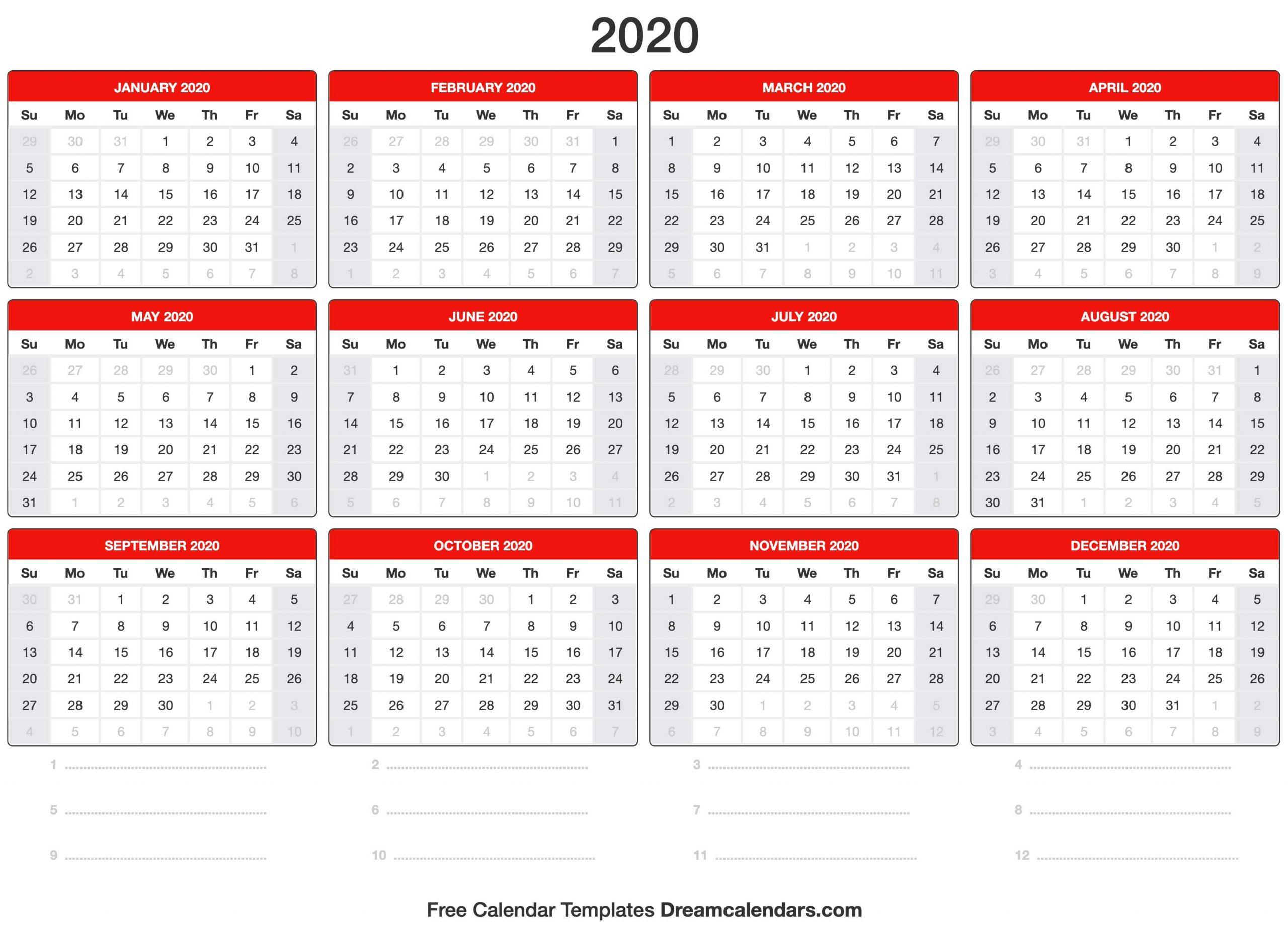 Dream Calendars - Make Your Calendar Template Blog Free 2020 Calendar With Days Counted 1-365
