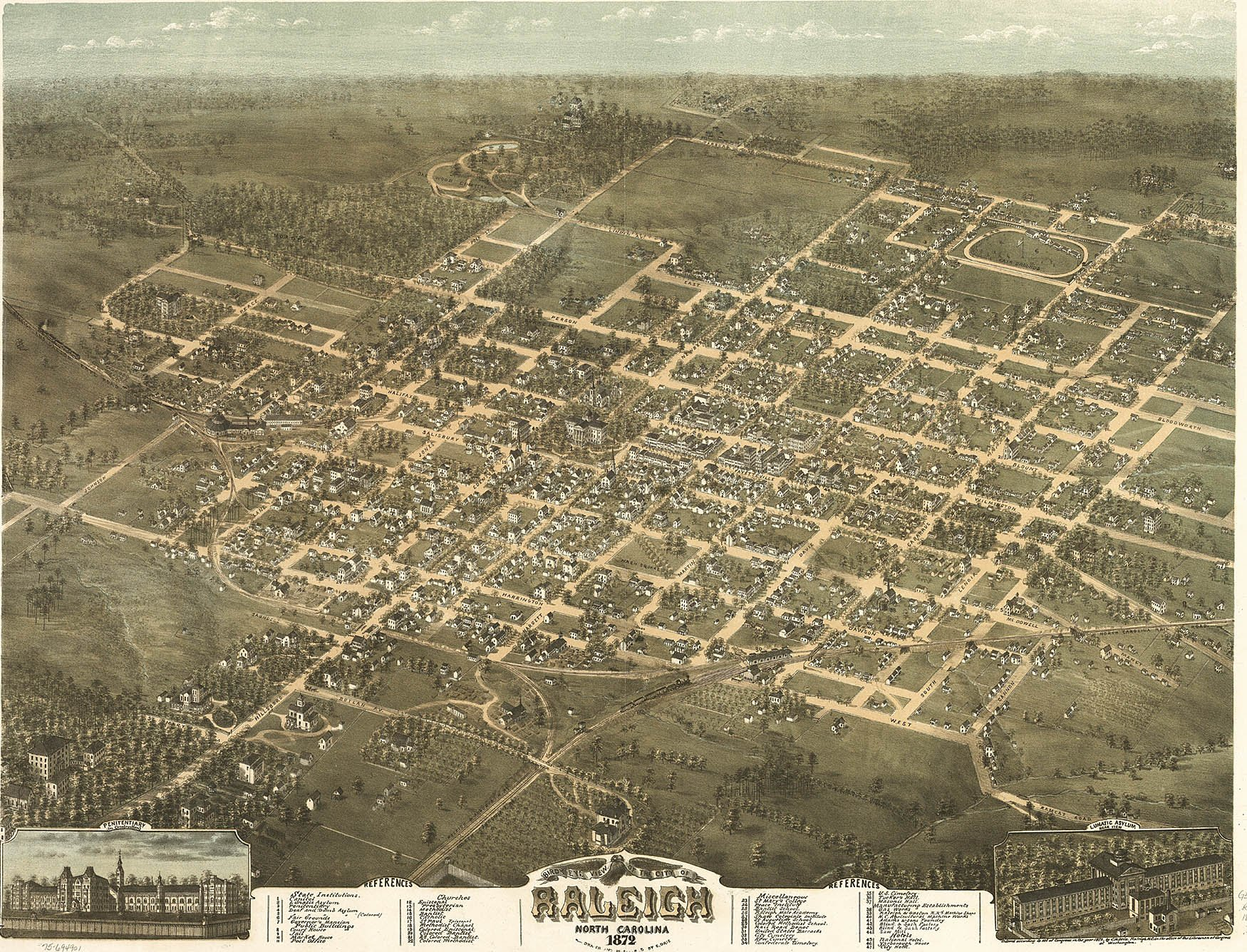 Early History-- Raleigh: A Capital City: A National Wake County March Vation