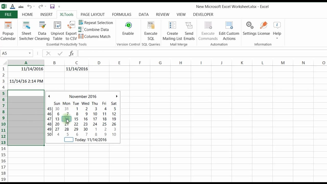 Easily Insert And Edit Dates In Excel With The Popup Calendars I Can Edit