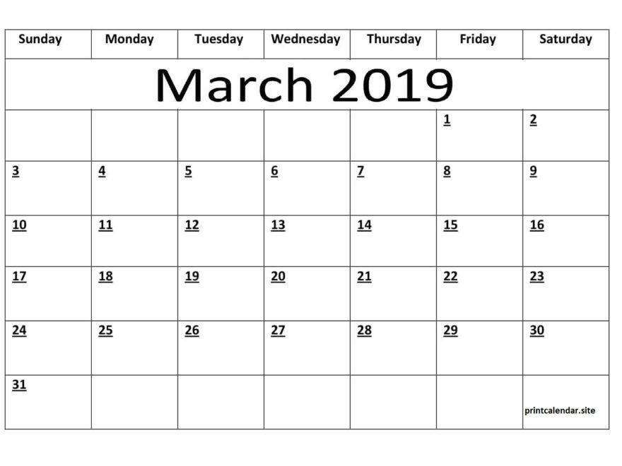 Editable March 2019 Calendar Template | Calendar Template 2 Week Calendar March