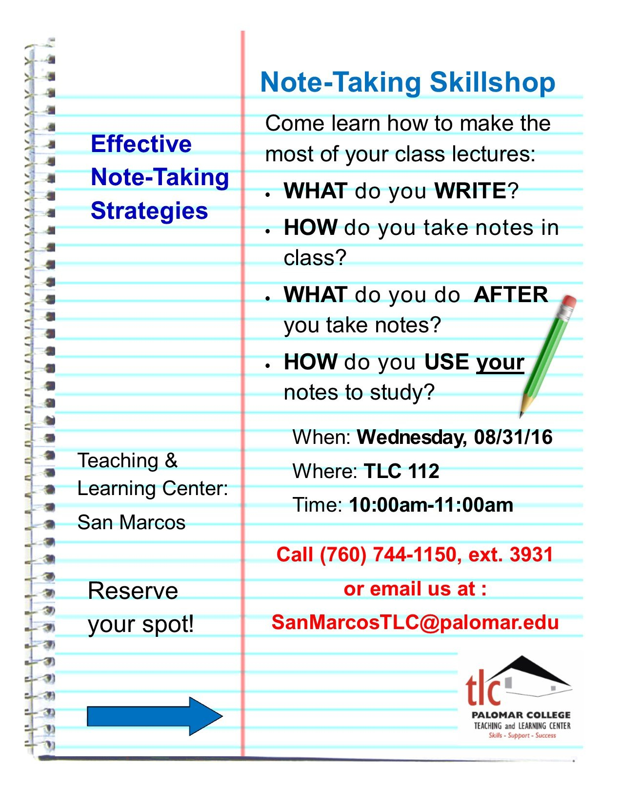 Effective Note Taking Strategies Free 2016 Calendar With Room For Taking Notes