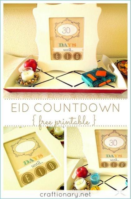 Eid Countdown (Ramadan Free Printable) | Ramadan Crafts Ramadan Countdown Free Printable